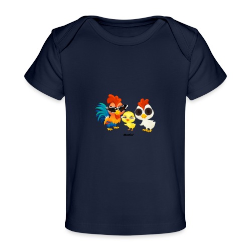 Kurczak - autorstwa Momio Designer Emeraldo. - Ekologiczna koszulka dla niemowląt
