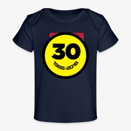 30 Jaar Belgian New Beat Smiley - Baby bio-T-shirt