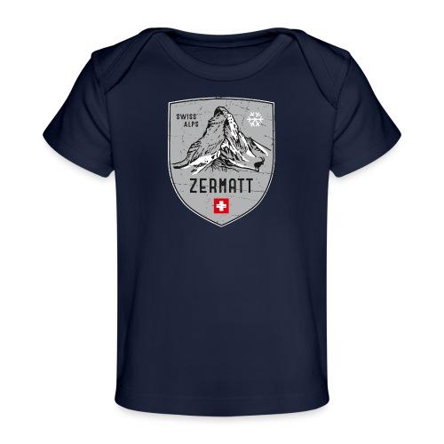 Zermatt Schweiz Wappen - Organic Baby T-Shirt