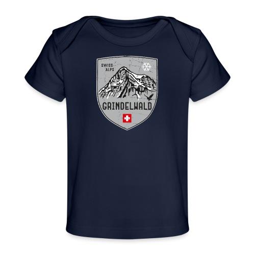 Grindelwald Switzerland coat of arms - Organic Baby T-Shirt