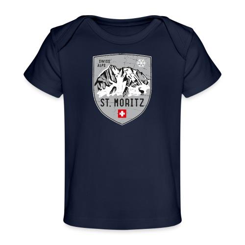 St. Moritz coat of arms - Organic Baby T-Shirt