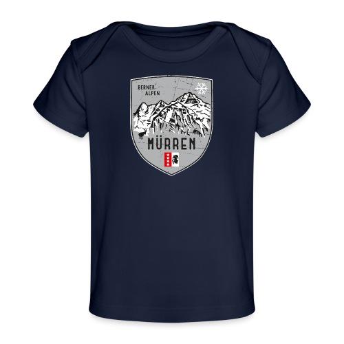 Eiger, Mönch und Jungfrau mit Mürren Flagge - Organic Baby T-Shirt