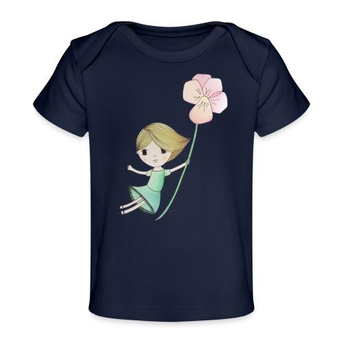 meisje met viool - Baby bio-T-shirt