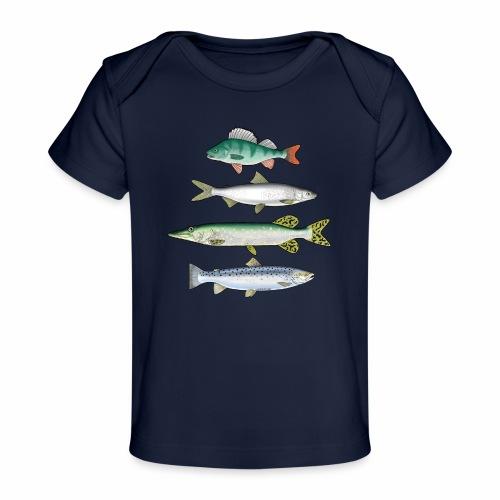 FOUR FISH - Ahven, siika, hauki ja taimen tuotteet - Vauvojen luomu-t-paita