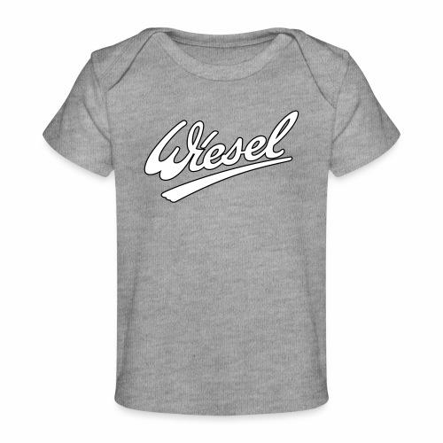 Wiesel Logo mit Kontur - Organic Baby T-Shirt