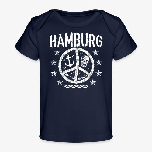 105 Hamburg Peace Anker Seil Koordinaten - Baby Bio-T-Shirt