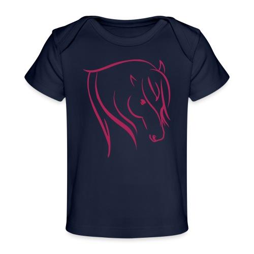 Pferdekopf Motiv Reitbekleidung - Baby Bio-T-Shirt