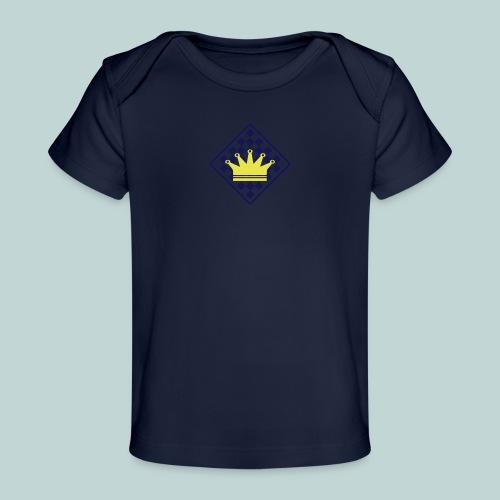schachbrett_mit_rand - Baby Bio-T-Shirt