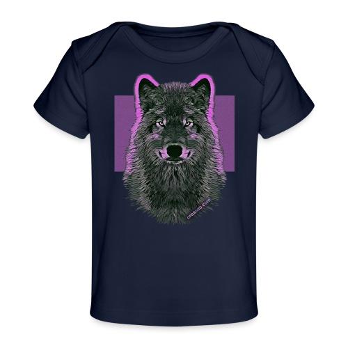 WOLF PINK IN LOVE - Baby Bio-T-Shirt