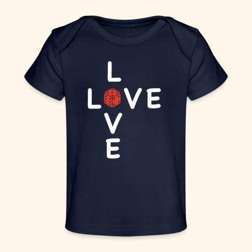LOVE Cross white wuerfel red 001 - Baby Bio-T-Shirt