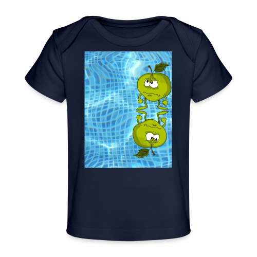 angry appel - Baby bio-T-shirt