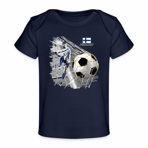 FP22F 05 FINLAND FOOTBALL - Vauvojen luomu-t-paita