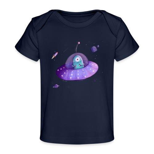 Alien im Raumschiff - Baby Bio-T-Shirt