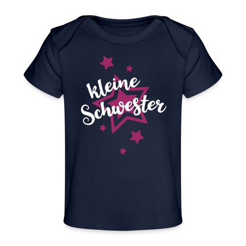Kleine Schwester Mädchen Babybody Baby Geburt - Baby Bio-T-Shirt