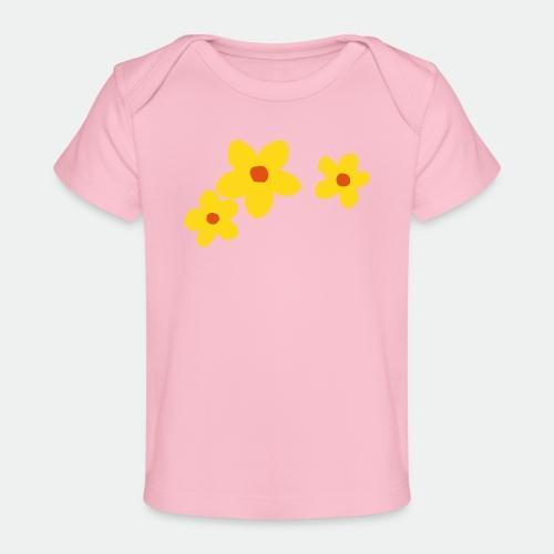Three Flowers - Organic Baby T-Shirt