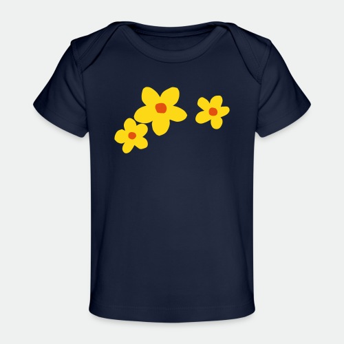 Three Flowers - Organic Baby T-Shirt