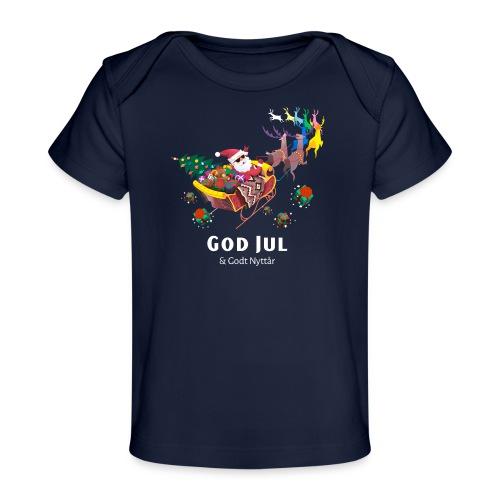 god jul og godt nyttår - Økologisk baby-T-skjorte
