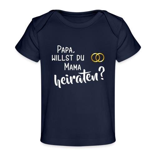 Papa Mama heiraten Baby Body Antrag Hochzeit - Baby Bio-T-Shirt