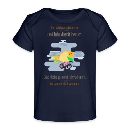 Der Fahrrad-Fisch - Baby Bio-T-Shirt