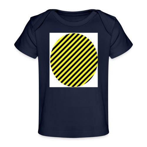 varninggulsvart - Ekologisk T-shirt baby