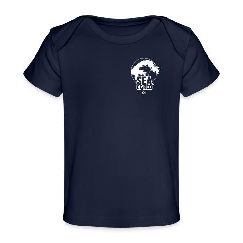 Sea of red logo - white small - Organic Baby T-Shirt