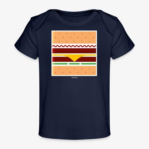 Square Burger - Maglietta ecologica per neonato