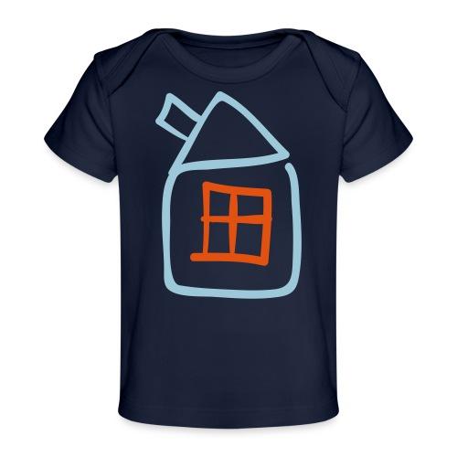 House Outline Pixellamb - Baby Bio-T-Shirt