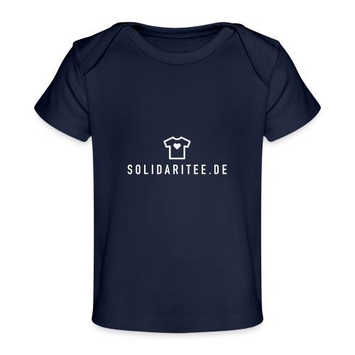 SOLIDARITEE Logo 02 2000px transparent weiss - Baby Bio-T-Shirt
