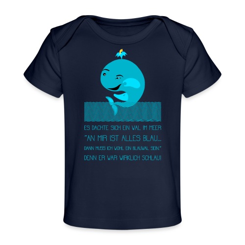 Blauwal - Baby Bio-T-Shirt
