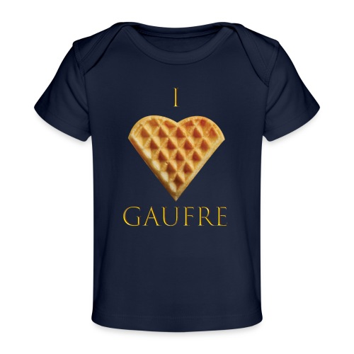 i love gaufre - T-shirt bio Bébé