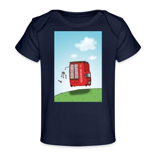 Feuerwehrwagen - Baby Bio-T-Shirt