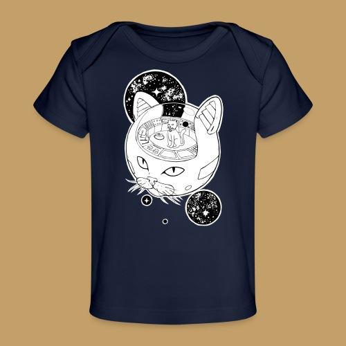 Kosmiczny Kot Imperator - Ekologiczna koszulka dla niemowląt