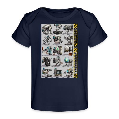 March of Rawrobots 01-15 - Økologisk T-shirt til baby