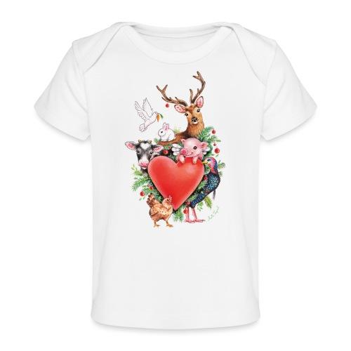 Christmas heart by Maria Tiqwah - Organic Baby T-Shirt