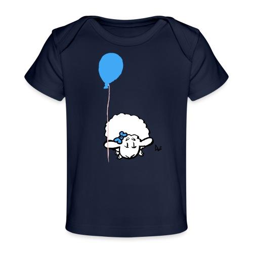 Babylam med ballon (blå) - Økologisk T-shirt til baby