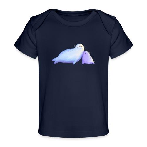 Kleine Robben - Baby Bio-T-Shirt
