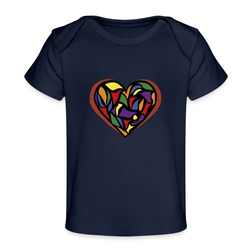 cuore di vetro - Maglietta ecologica per neonato