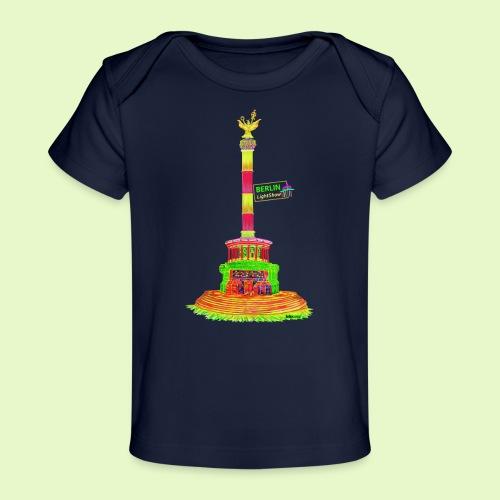DIE Siegessäule / BerlinLightShow / PopArt - Baby Bio-T-Shirt