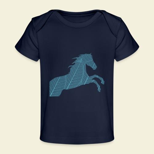 Cheval feuille - T-shirt bio Bébé