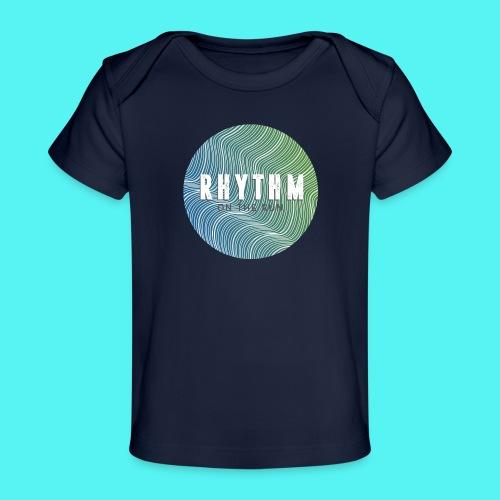 Rhythm On The Run Logo - Organic Baby T-Shirt