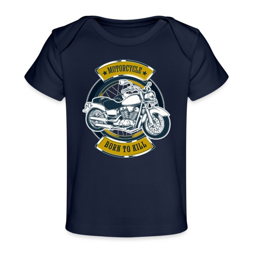 Motorcycle5 - Camiseta orgánica para bebé