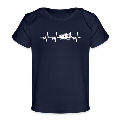 Forst | Herzschlag weiß - Baby Bio-T-Shirt