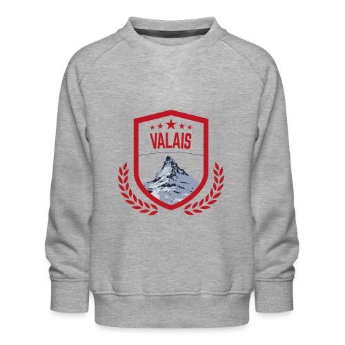 Walliser Logo mit dem Matterhorn - Kinder Premium Pullover
