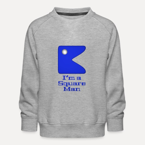 Square man blue - Kids' Premium Sweatshirt