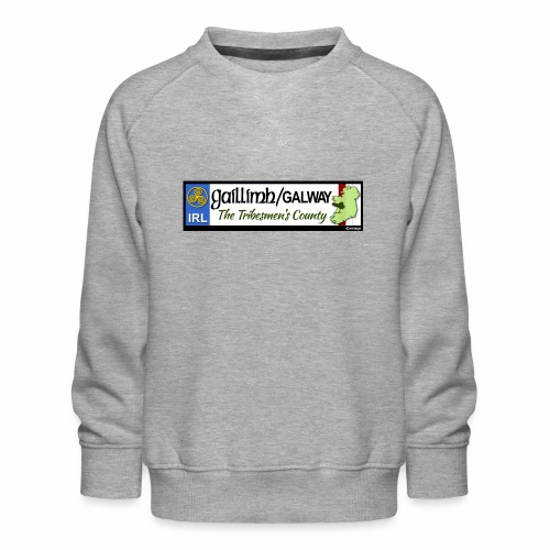 CO. GALWAY, IRELAND: licence plate tag style decal - Kids' Premium Sweatshirt