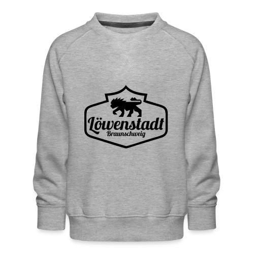 Löwenstadt Design 1 schwarz - Kinder Premium Pullover