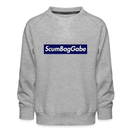 ScumBagGabe Blue XL Logo - Kids' Premium Sweatshirt