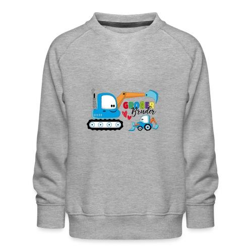 Großer Bruder Bagger - Kinder Premium Pullover