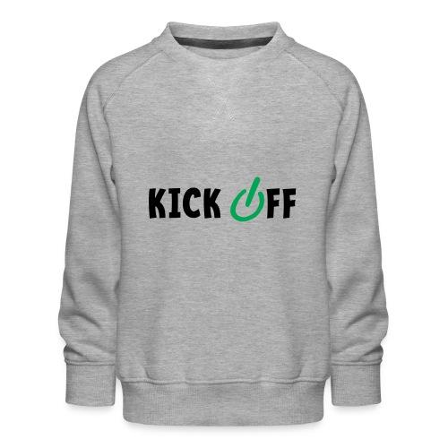 Slogan Kick off. Aftrap of meeting concept. - Kinderen premium sweater