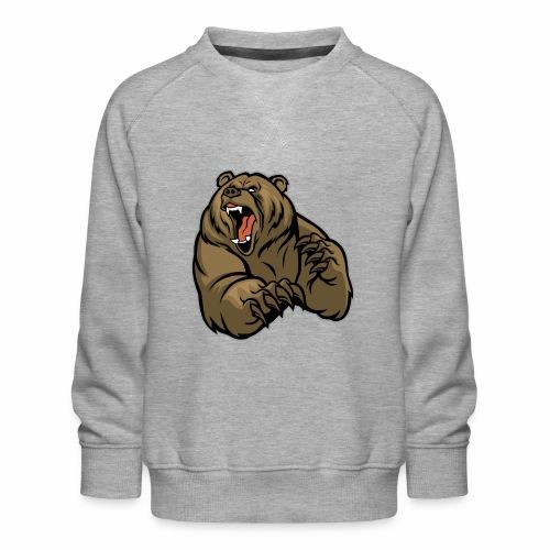 méchant grizzli - Sweat ras-du-cou Premium Enfant